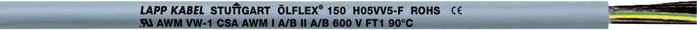Krmilni kabel ÖLFLEX® 150 4 G 0.75 mm sive barve LappKabel 0015104 75 m