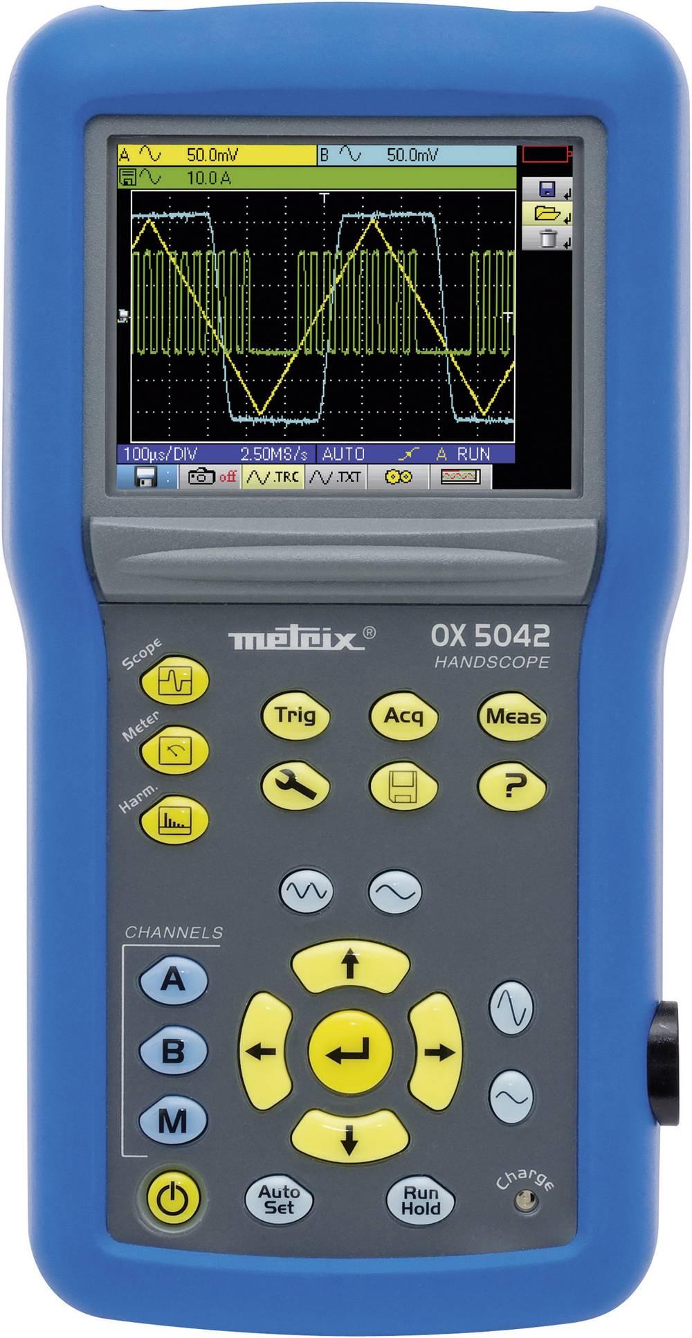 Ročni osciloskop (Scope-Meter) Metrix OX5022-C 20 MHz 2-Kanal 50 MSa/s 2.5 kpts 9 Bit digitalni pomnilnik (DSO), ročna naprava,