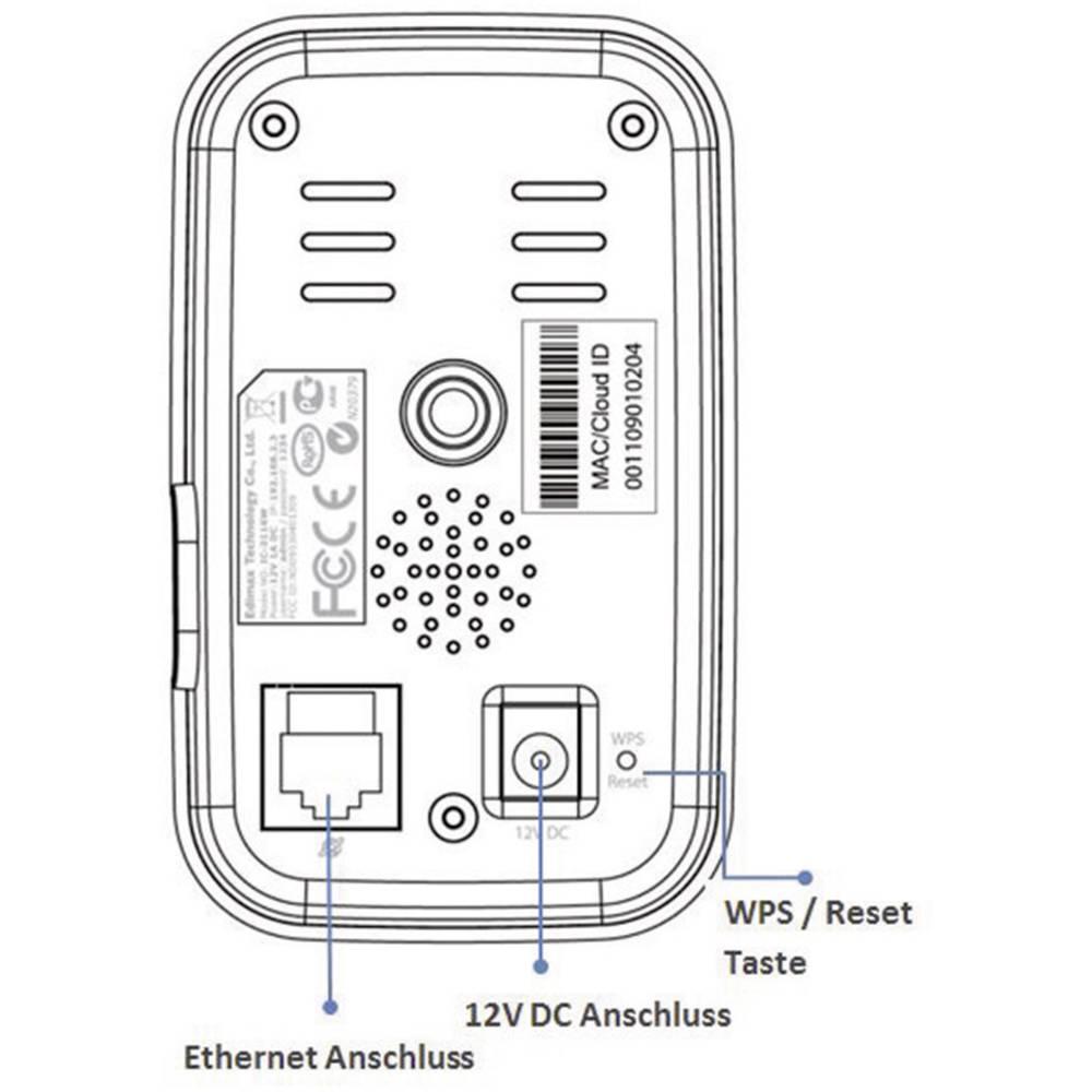 EDIMAX IC-3116W WLAN/Wi-Fi, LAN IP CCTV camera 1280 x 720