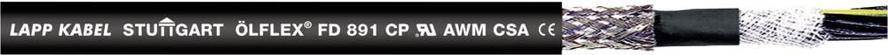 Energijski kabel ÖLFLEX® FD 891 CY 12 G 1 mm črne barve LappKabel 1027295 100 m