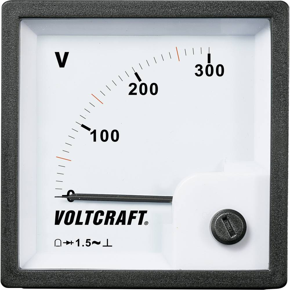 VOLTCRAFT AM-72x72/300V vgradni analogni merilnik AM-72x72/300V 300 V vrtljiva tuljava