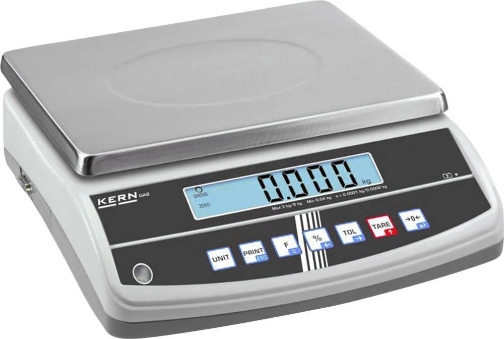 Namizna tehtnica Kern GAB 30K0.2N tehtanje do maks. 30 kg, natančnost 0.2 g omrežno napajanje, akumulatorsko napajanje srebrne b
