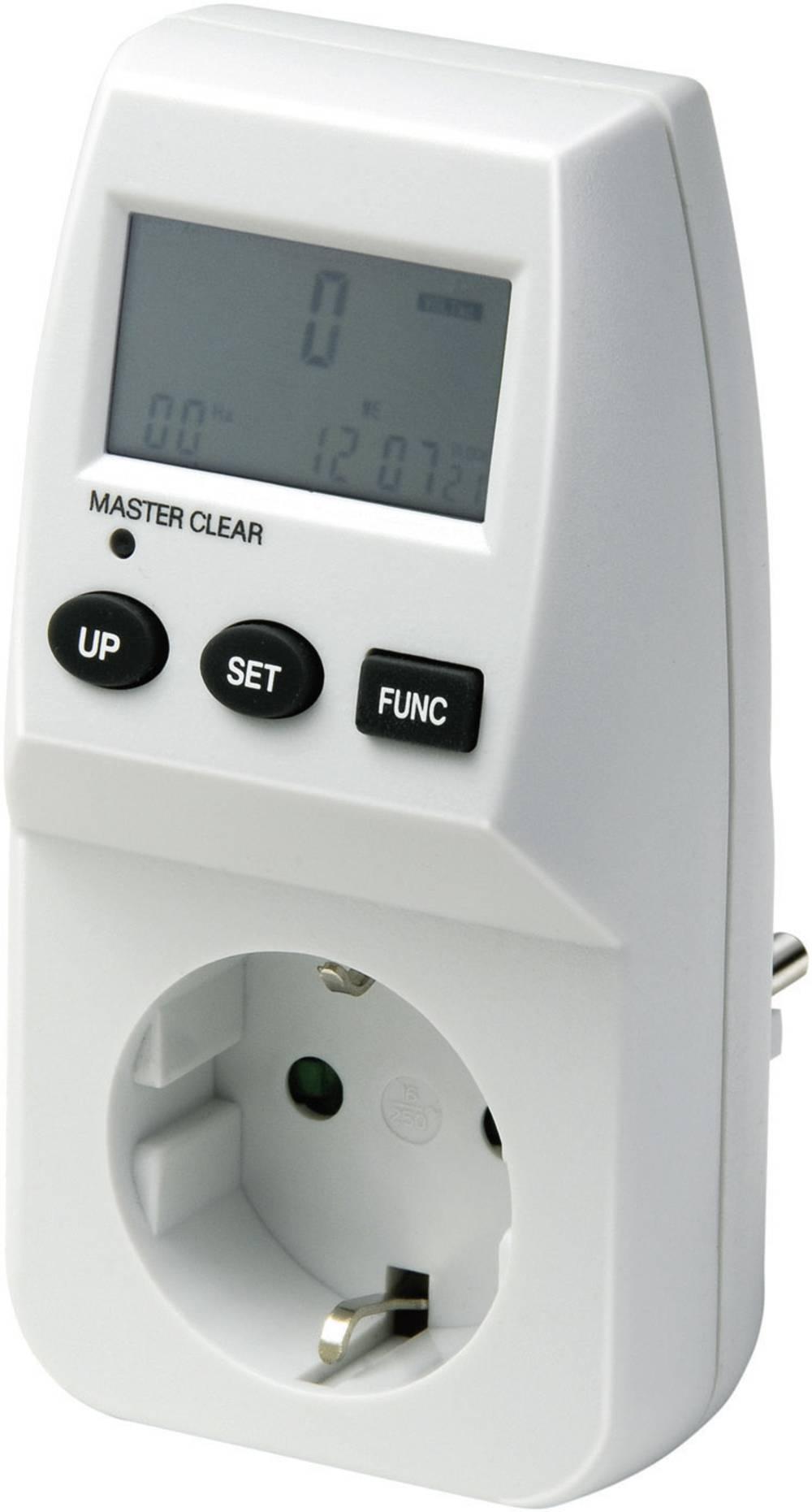 Merilnik stroškov energijske porabe z LCD zaslonom Brennenstuhl EM 231 LCD 0 – 9999.9 kWh