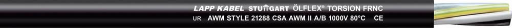 Krmilni kabel ÖLFLEX® TORSION FRNC 4 G 1.5 mm črne barve LappKabel 1150272 100 m