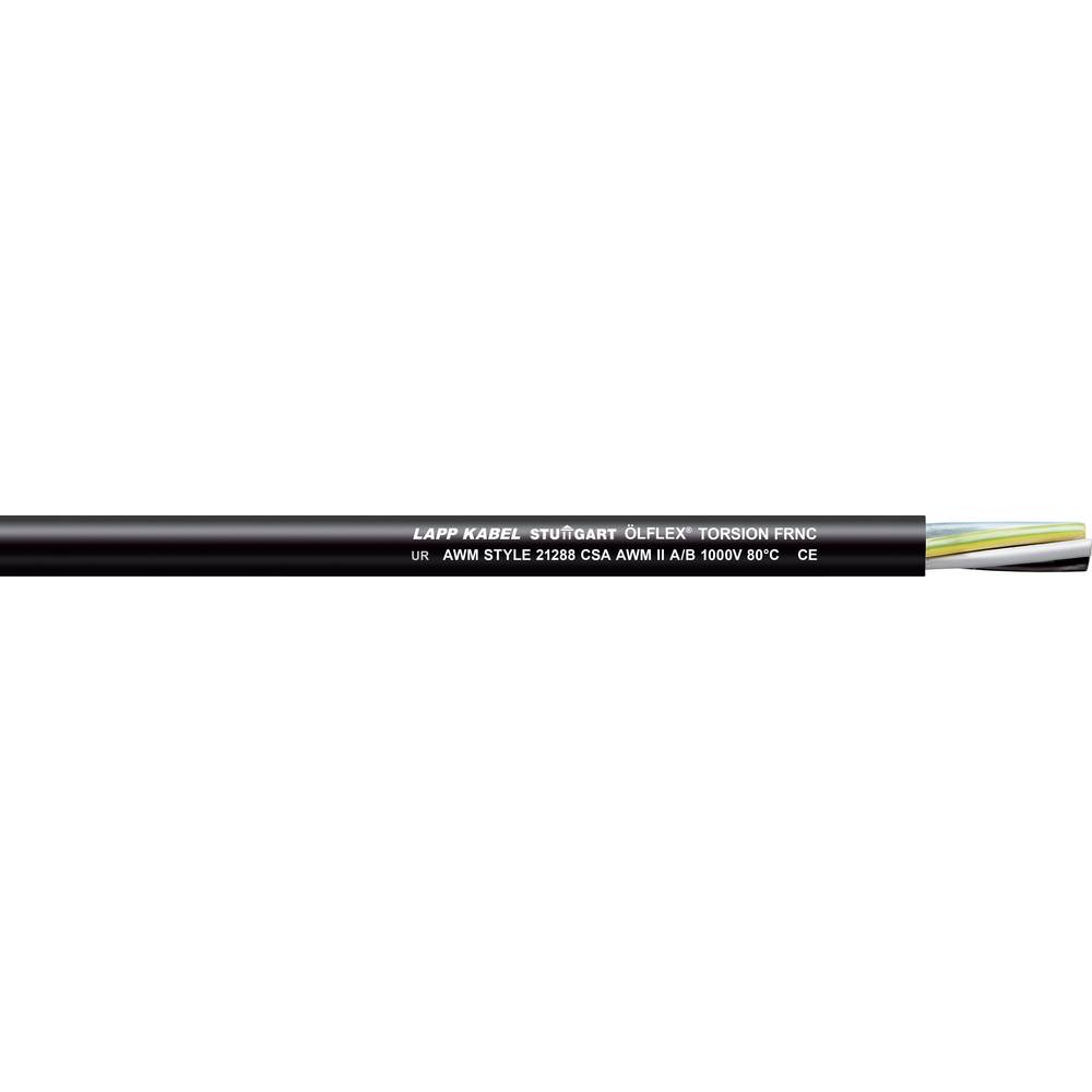 Krmilni kabel ÖLFLEX® TORSION FRNC 3 G 4 mm črne barve LappKabel 1150350 100 m