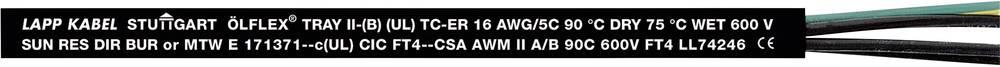 Krmilni kabel ÖLFLEX® TRAY II 4 G 2.5 mm črne barve LappKabel 221404 76 m