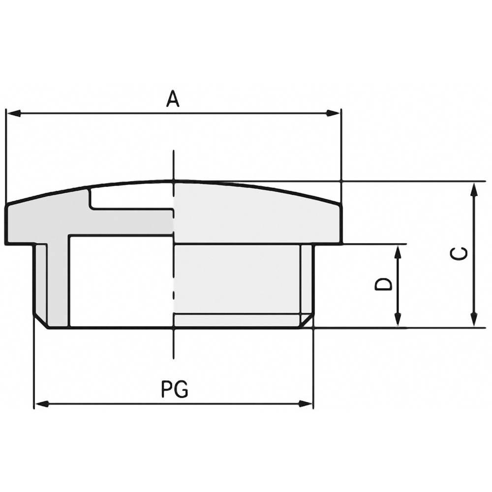 Blindprop LappKabel 52024849 Polystyren Lysegrå (RAL 7035) 100 stk