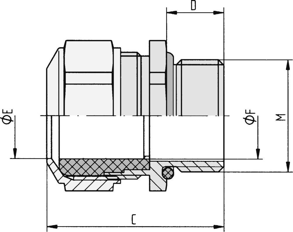 Kabelska uvodnica M25 nikelj, jeklo nikelj LappKabel SKINDICHT CN-M 25X1,5 5 kosov