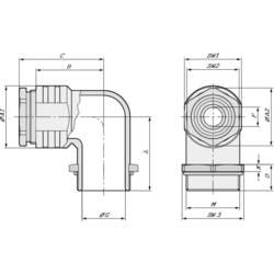 Vinkelforskruning LappKabel SKINDICHT® RWV-M 40X1,5 M40 Trykstøbt Natur 5 stk