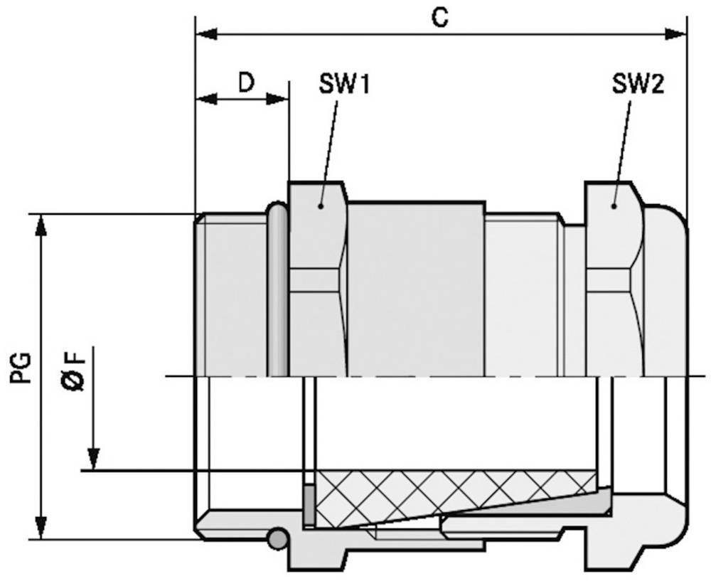 Kabelforskruning LappKabel SKINDICHT® SHV PG 16/16/13 Messing Messing 25 stk