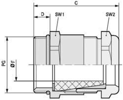 Kabelforskruning LappKabel SKINDICHT® SHV PG 13,5/11/11 Messing Messing 25 stk