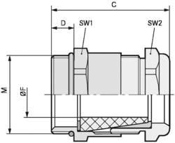 Kabelforskruning LappKabel SKINDICHT® SHV-M 32X1,5/29/24 M32 Messing Messing 10 stk