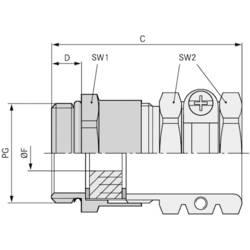 Kabelforskruning LappKabel SKINDICHT® SHZ PG 11 PG11 Messing Messing 25 stk