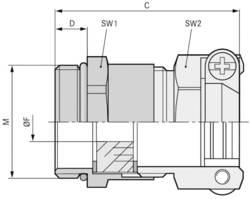 Kabelforskruning LappKabel SKINDICHT® SKZ-M 20X1,5/13,5 M20 Messing Messing 25 stk