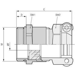 Kabelforskruning LappKabel SKINDICHT® SKZ-M 25X1,5/21 M25 Messing Messing 25 stk
