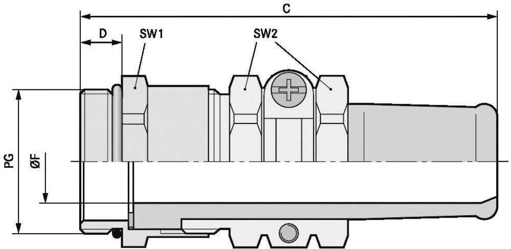Kabelska uvodnica PG42 medenina, naravna barva LappKabel SKINDICHT SR PG 42/40 5 kosov