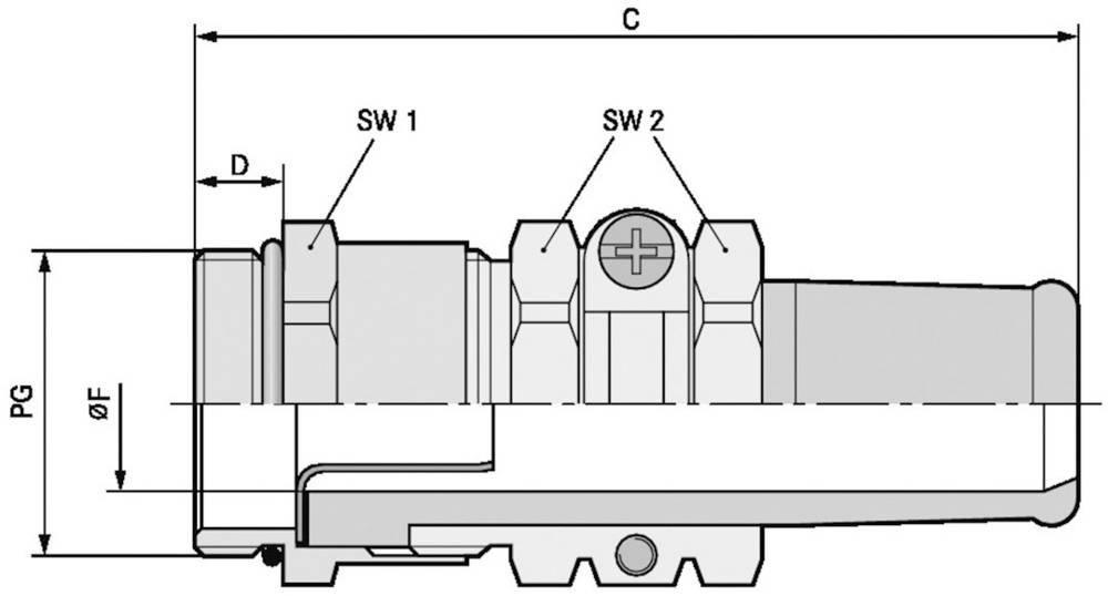 Kabelforskruning LappKabel SKINDICHT® SRE PG 13,5/ 13,5/ 9/6 PG13.5 Messing Messing 25 stk