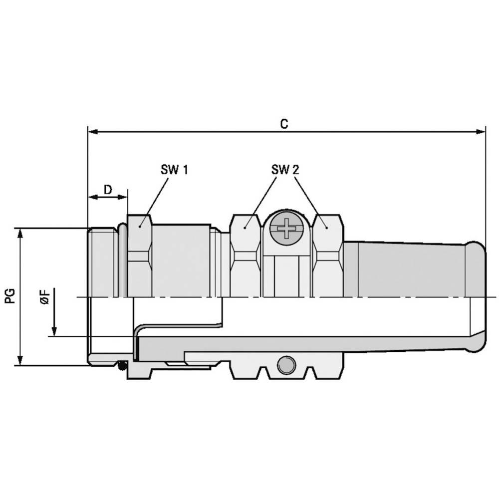 Kabelforskruning LappKabel SKINDICHT® SRE PG 21/21/17/14 PG21 Messing Messing 25 stk