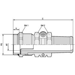 Kabelforskruning LappKabel SKINDICHT® SRE PG 36/36/33/28 PG36 Messing Messing 5 stk
