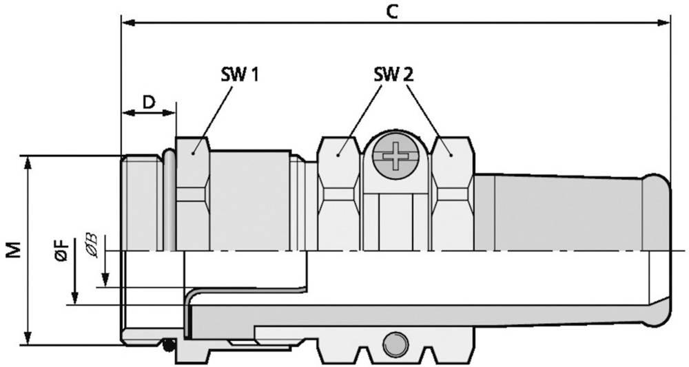 Kabelska uvodnica M40 medenina, naravna barva LappKabel SKINDICHT SRE-M 40X1,5/36/30/24 5 kosov