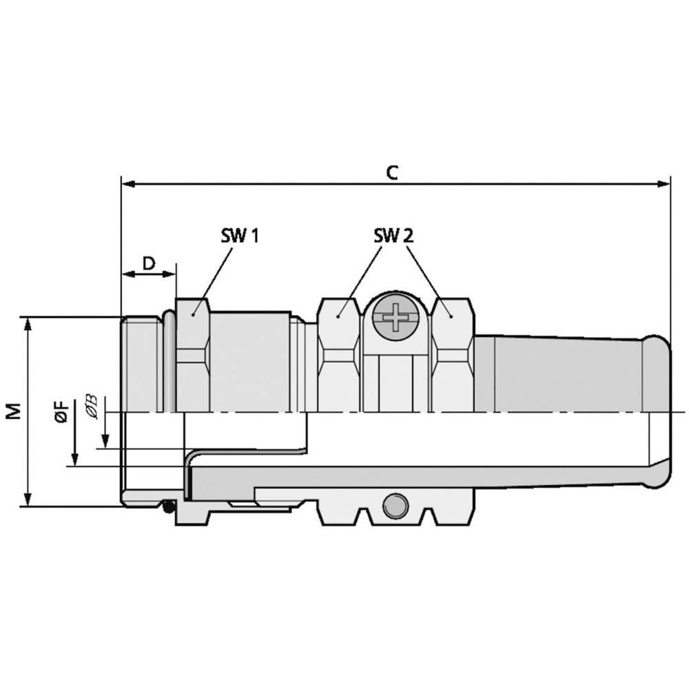 Kabelforskruning LappKabel SKINDICHT® SRE-M 25X1,5/21/19/15 M25 Messing Messing 25 stk