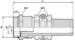 Kabelforskruning LappKabel SKINDICHT® SRE-M 20X1,5/13,5/11/7 M20 Messing Messing 25 stk