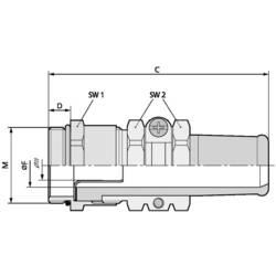 Kabelforskruning LappKabel SKINDICHT® SRE-M 40X1,5/36/33/28 M40 Messing Messing 5 stk