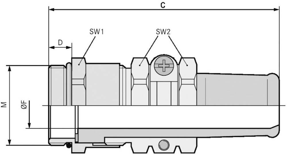 Kabelska uvodnica M50 medenina, naravna barva LappKabel SKINDICHT SR-M 50X1,5/42/38 5 kosov