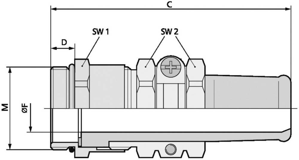 Kabelforskruning LappKabel SKINDICHT® SR-SV-M 20X1,5/13,5/13 M20 Messing Messing 25 stk