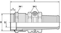 Kabelforskruning LappKabel SKINDICHT® SR-SV-M 20X1,5/13,5/11 M20 Messing Messing 25 stk