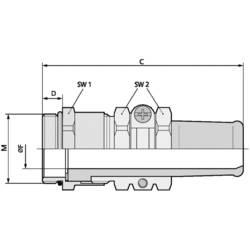 Kabelforskruning LappKabel SKINDICHT® SR-SV-M 25X1,5/21/19 M25 Messing Messing 10 stk
