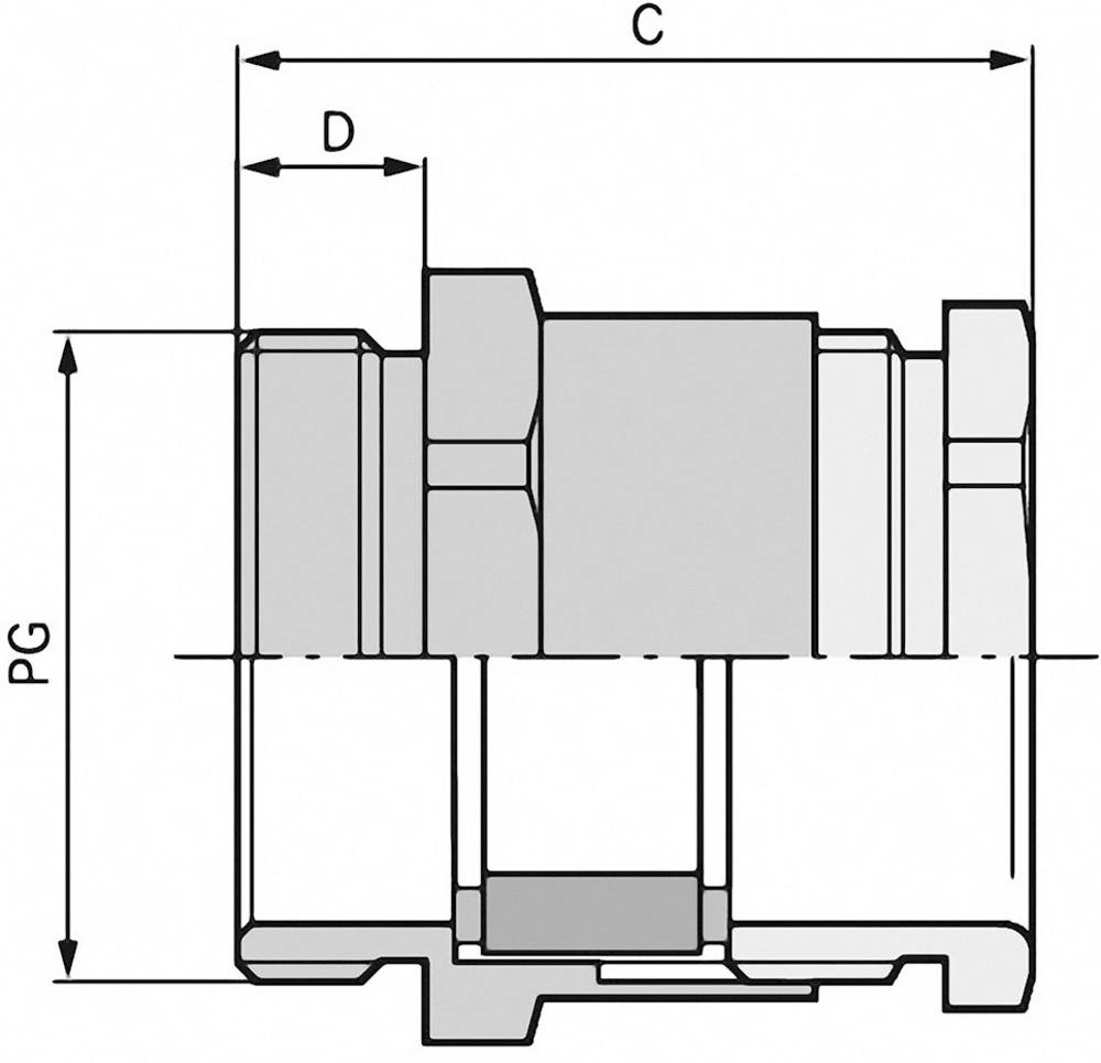 Kabelska uvodnica PG36 medenina, naravna barva LappKabel SKINDICHT SVF PG 36 10 kosov