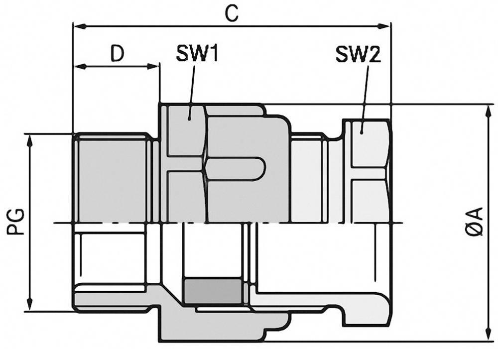 Kabelforskruning LappKabel SKINDICHT® SVFK PG 29 PG29 Polystyren Lysegrå (RAL 7035) 25 stk