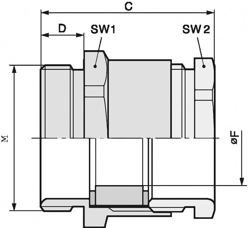 Kabelska uvodnica M50 medenina, naravna barva LappKabel SKINDICHT SVF-M 50X1,5/42 5 kosov