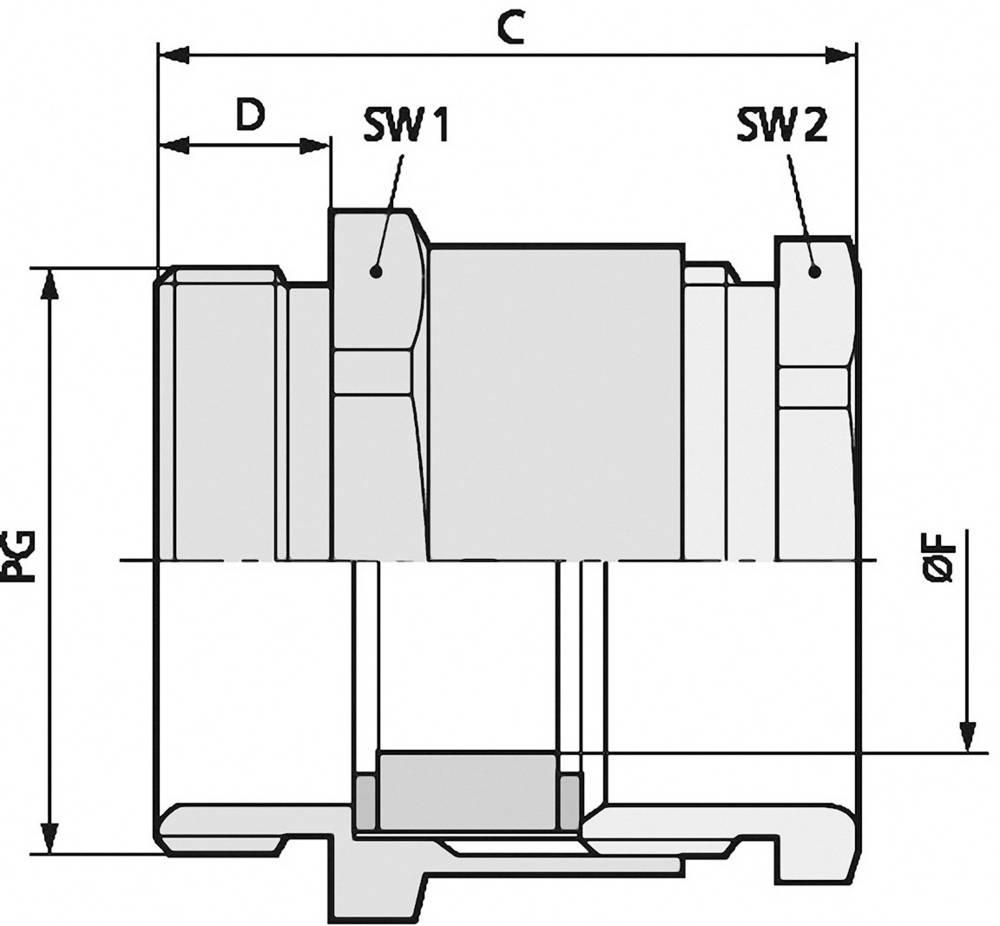 Kabelska uvodnica PG90 medenina, naravna barva LappKabel SKINDICHT SVRN PG 9007 100 kosov