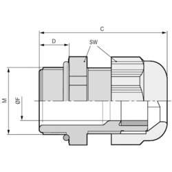 Kabelforskruning LappKabel SKINTOP® KR-M 25X1,5 ATEX PLUS BU M25 Polyamid Blå (RAL 5015) 25 stk