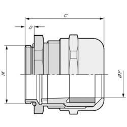Kabelforskruning LappKabel SKINTOP® MS-IS-M 25X1,5 M25 Messing Messing 25 stk