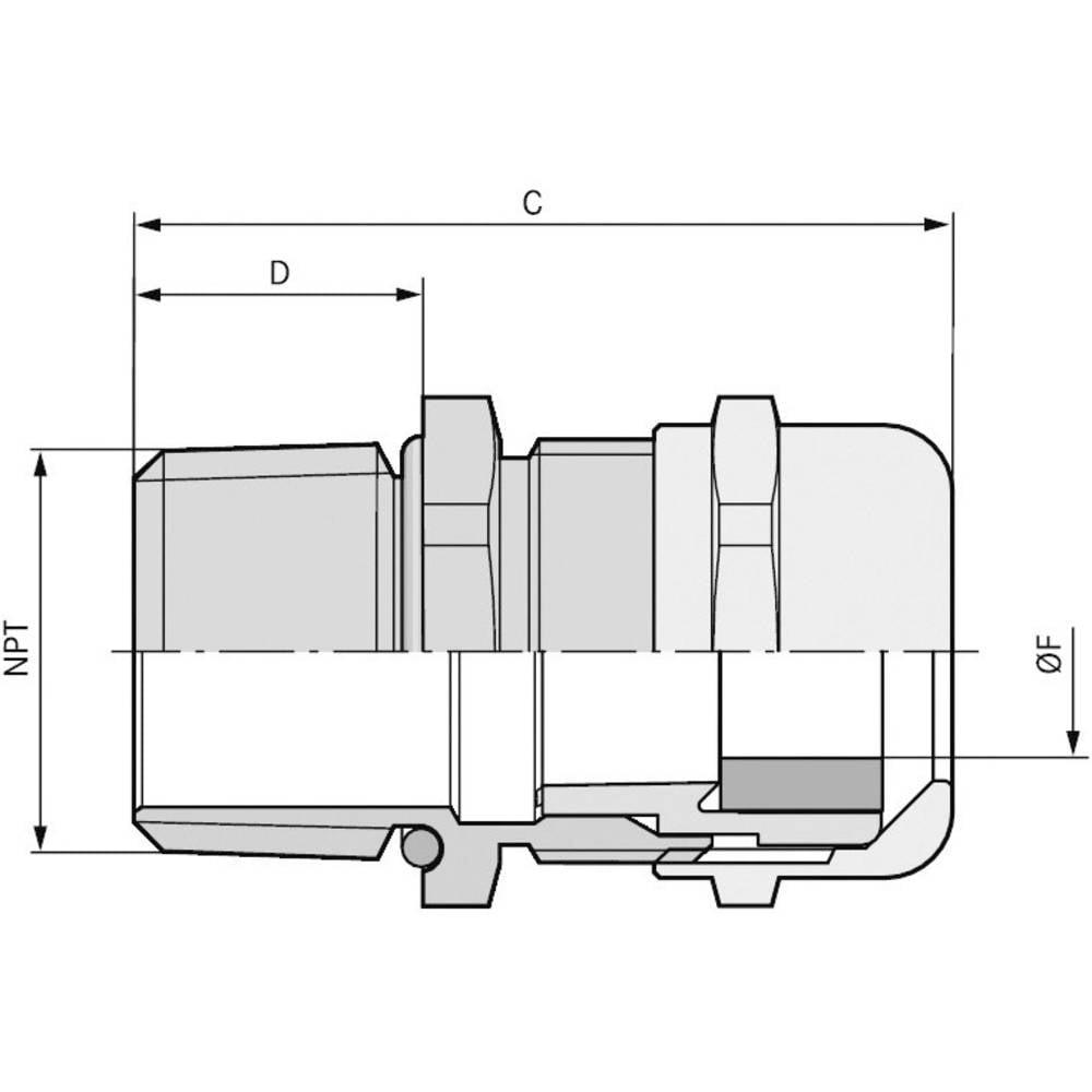 Kabelska uvodnica 1 1/2 medenina, naravna barva LappKabel SKINTOP MS-SC NPT 1 1/2 5 kosov