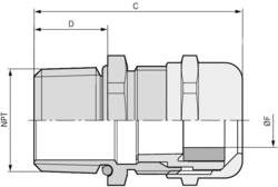 Kabelforskruning LappKabel SKINTOP® MS-NPT 3/4'' 3/4 Messing Messing 25 stk