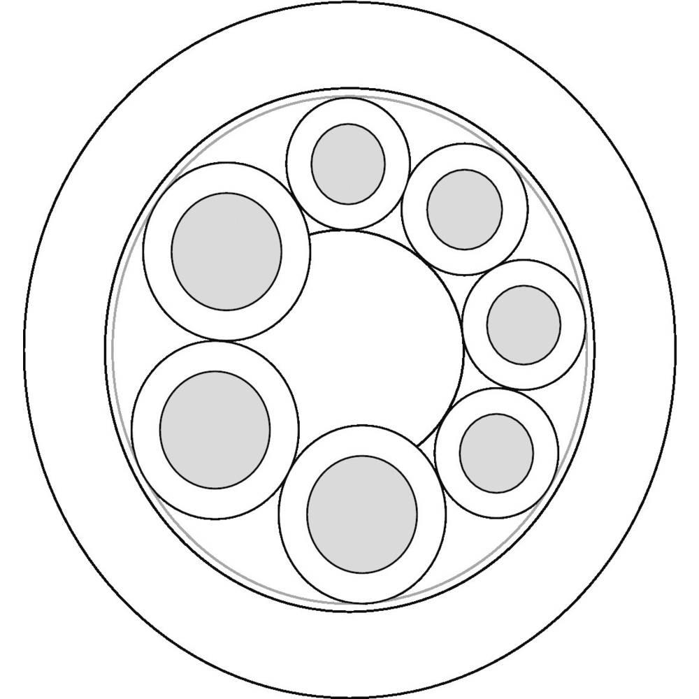Senzorski kabel UNITRONIC® SENSOR 3 x 0.75 mm + 4 x 0.34 mm črne barve LappKabel 7038880 100 m