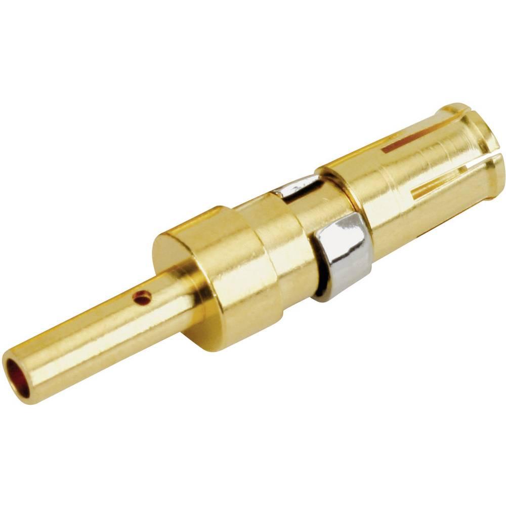 Visoko-napetostni-vtičnični kontakt AWG min.: 14 AWG maks.: 12 pozlačeno čez bazo niklja 20 A Conec 132C11029X 1 kos