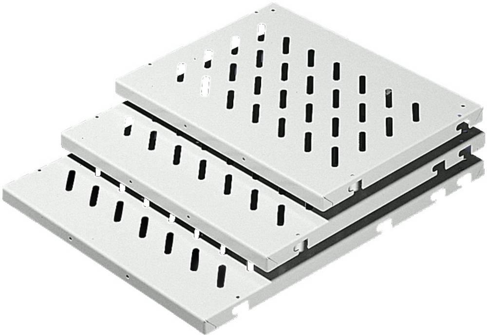Gulvplade Rittal DK 7485.035 perforeret (L x B x H) 500 x 800 x 45 mm Stålplade Lysegrå (RAL 7035) 1 stk