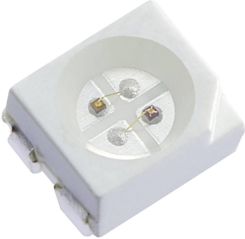 SMD LED flerfarvet Kingbright KAA-3528SURKSYKS PLCC4 100 mcd, 240 mcd 120 ° Rød, Gul