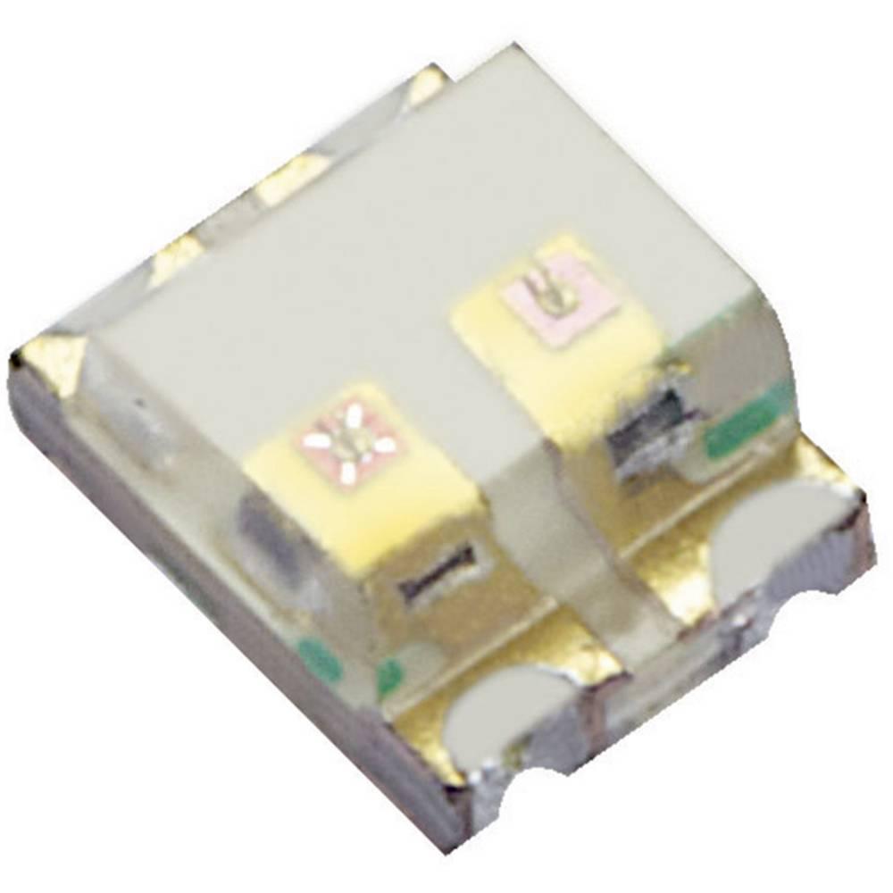 SMD-LED večbarvna 0605 modra, oranžna 80 mcd, 150 mcd 120 ° 20 mA 3.3 V, 2.1 V Kingbright KPTB-1612QBDSEKC