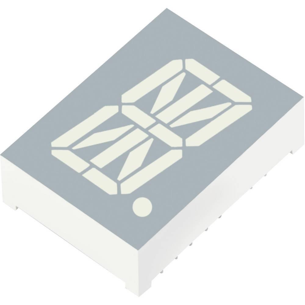Alfanumerični segmentni prikaz, rdeča 20.32 mm 1.85 V št. številk: 1 Kingbright PSA08-11SURKWA