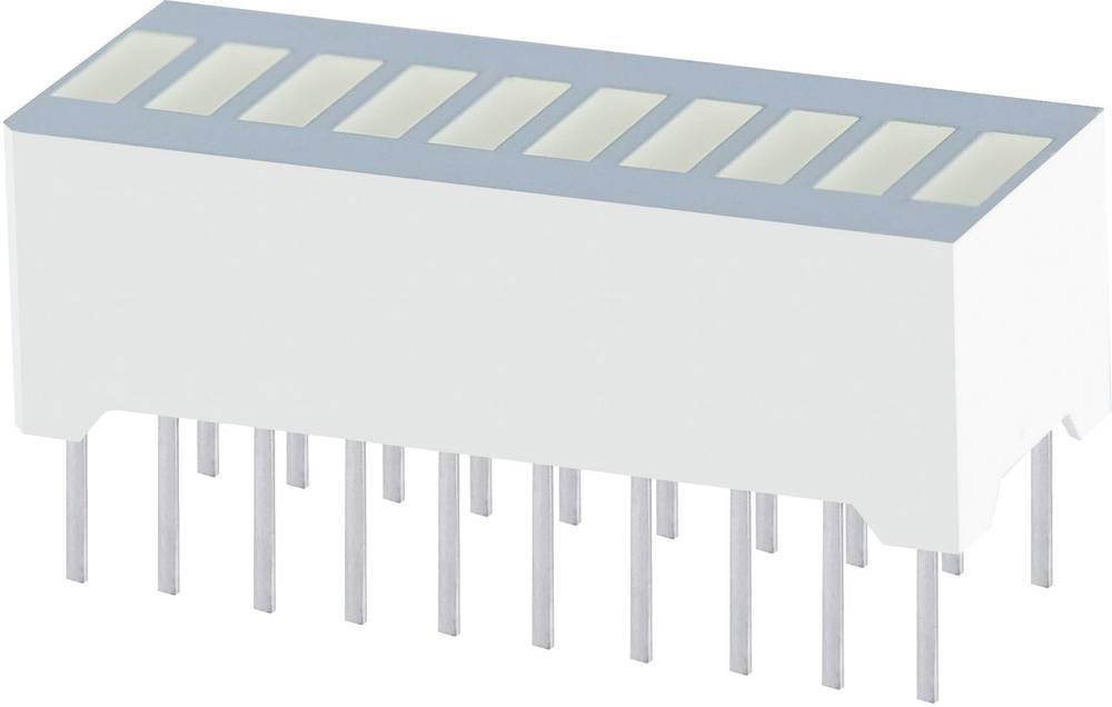 LED-søjlediagram Kingbright (B x H x T) 25.4 x 10.16 x 8 mm 10x Grøn
