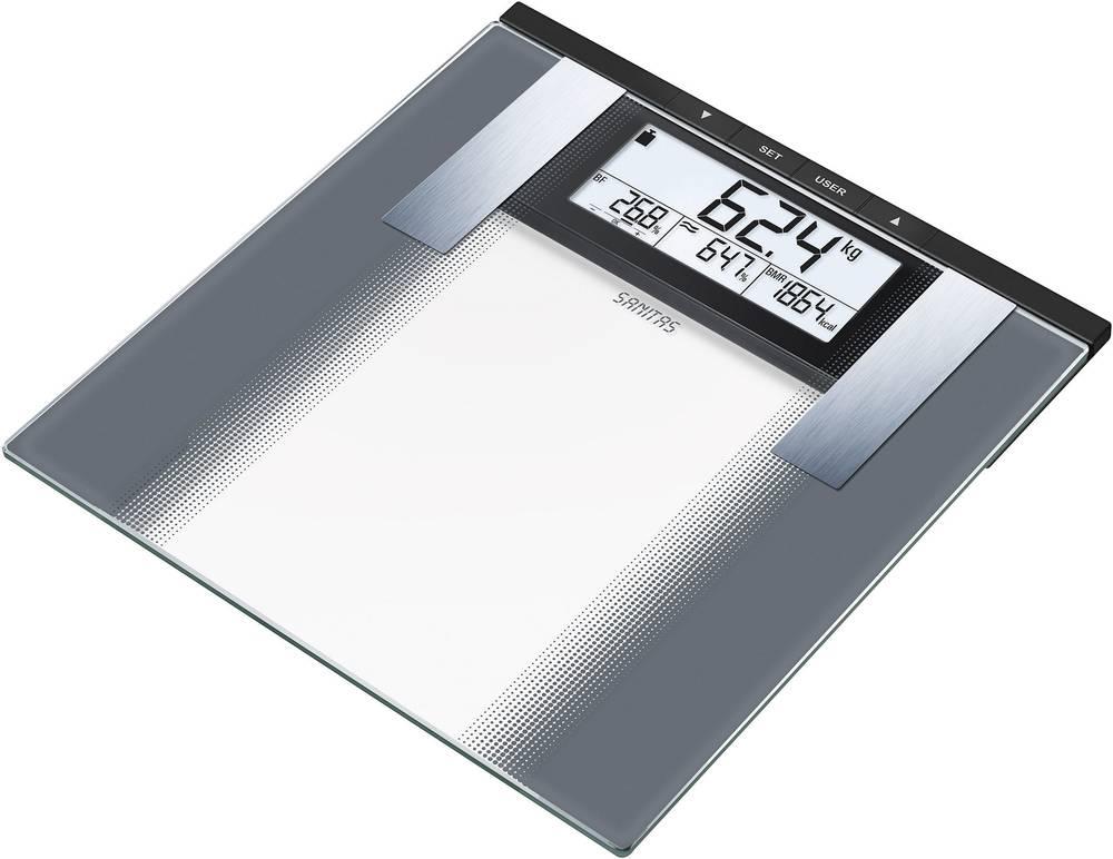Analizna osebna tehtnica Sanitas SBG 21 območje tehtanja (maks.)=180 kg siva, steklo
