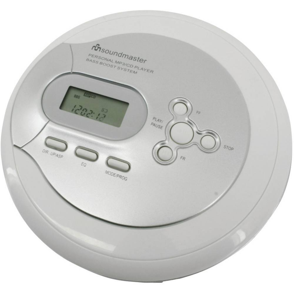 SoundMaster CD9180 Silver, White CD, CD-R, CD-RW, MP3