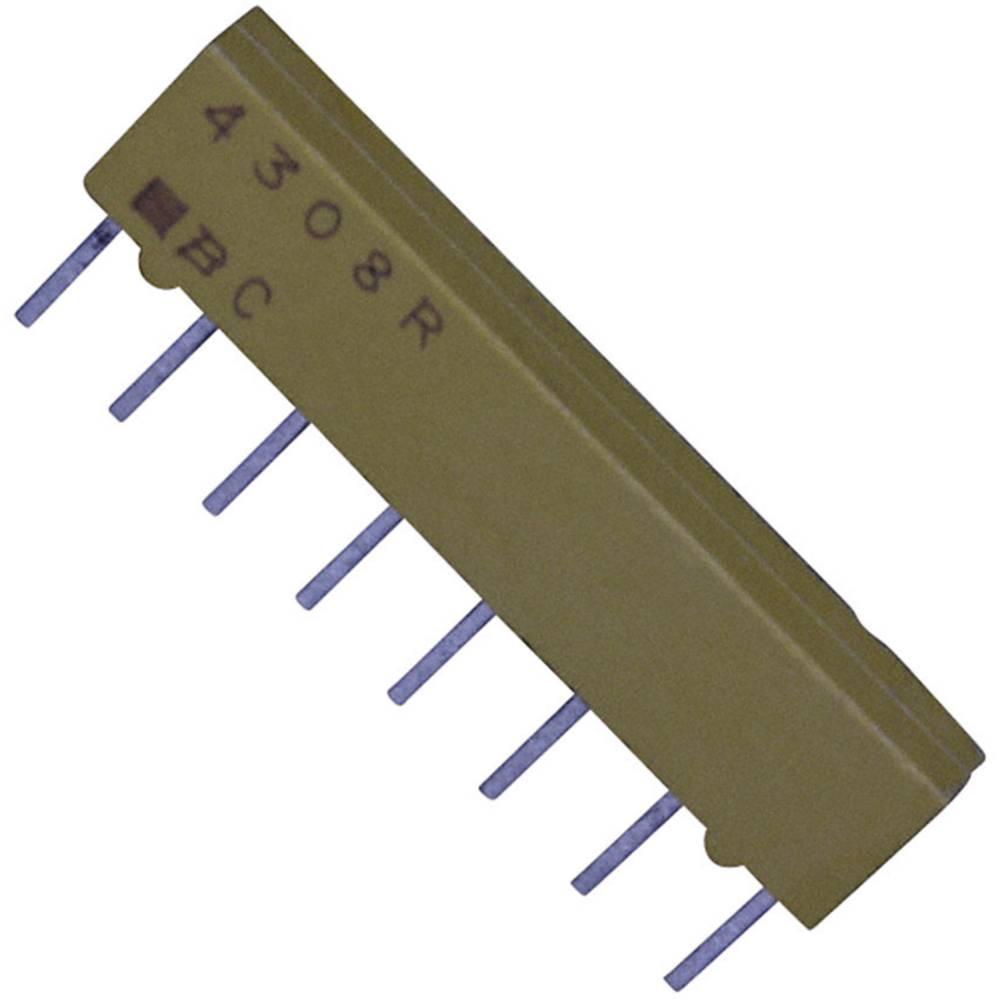 Otporna mreža 10 k radijalno ožičena SIP-8 0.2 W Bourns 4308R-101-103LF 1 kom.