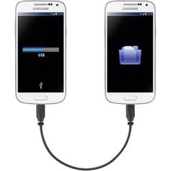 Renkforce Supersoft OTG-Mirror mikro-USB-kabel 0,15 m